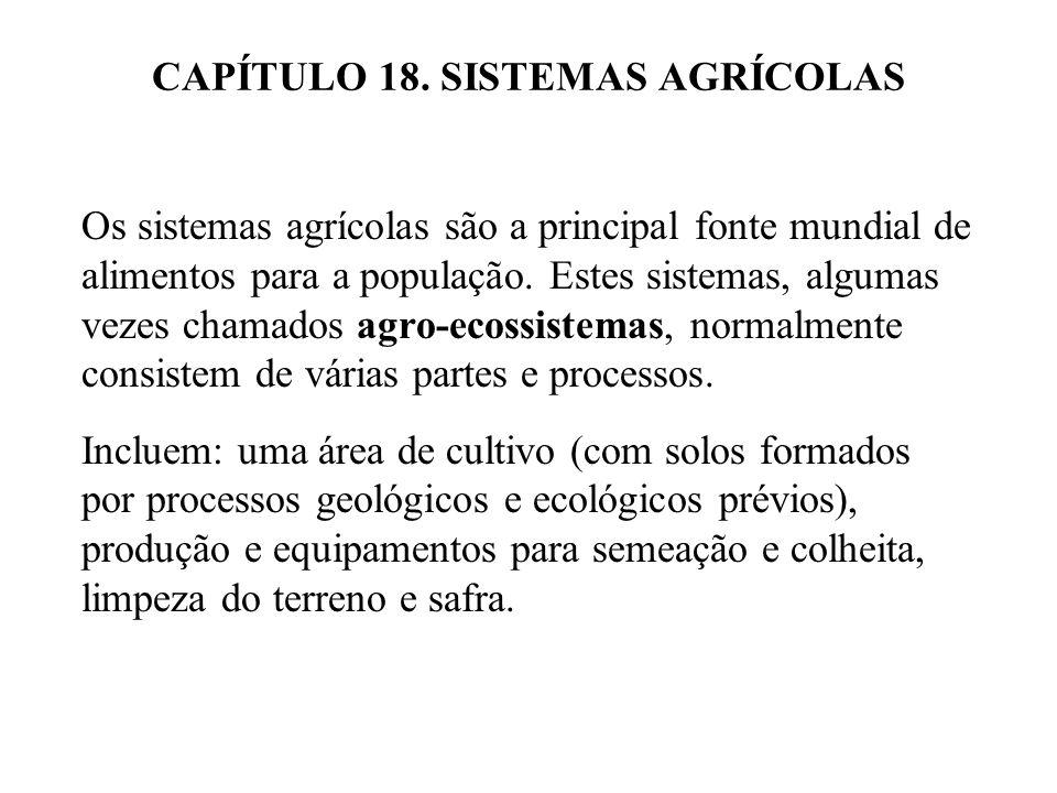 CAPÍTULO 18. SISTEMAS AGRÍCOLAS