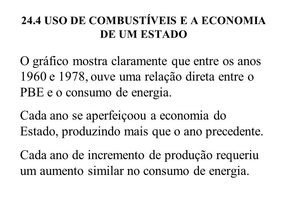 24.4 USO DE COMBUSTÍVEIS E A ECONOMIA DE UM ESTADO