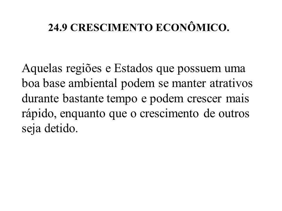 24.9 CRESCIMENTO ECONÔMICO.