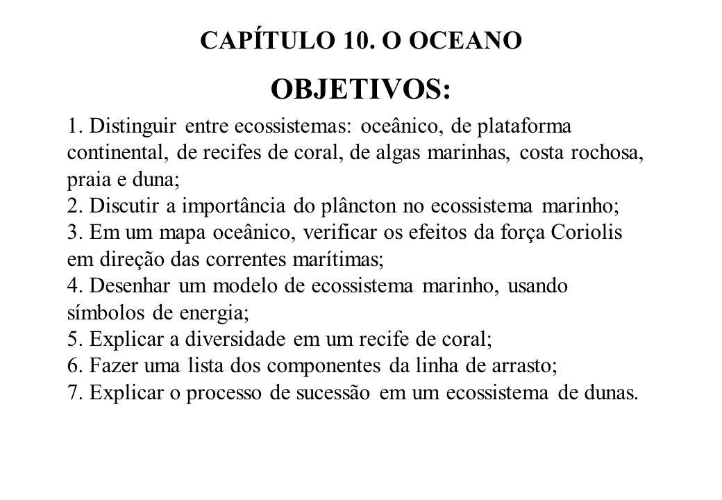 OBJETIVOS: CAPÍTULO 10. O OCEANO