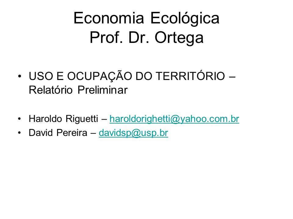 Economia Ecológica Prof. Dr. Ortega
