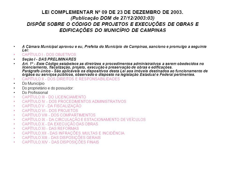 LEI COMPLEMENTAR Nº 09 DE 23 DE DEZEMBRO DE 2003