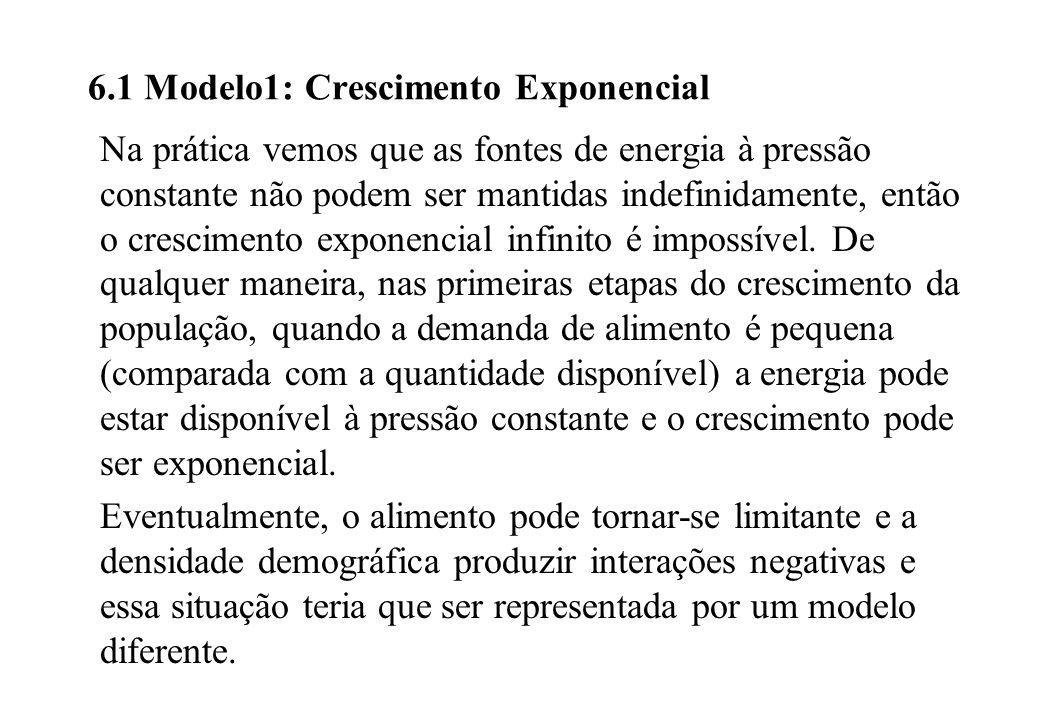 6.1 Modelo1: Crescimento Exponencial