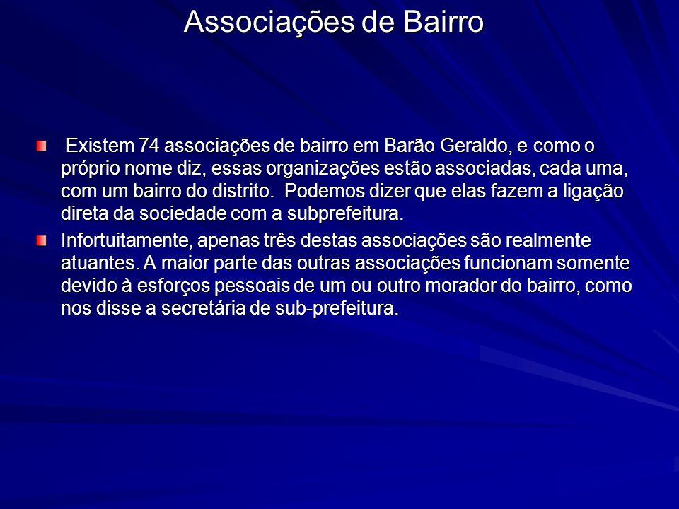 Associações de Bairro