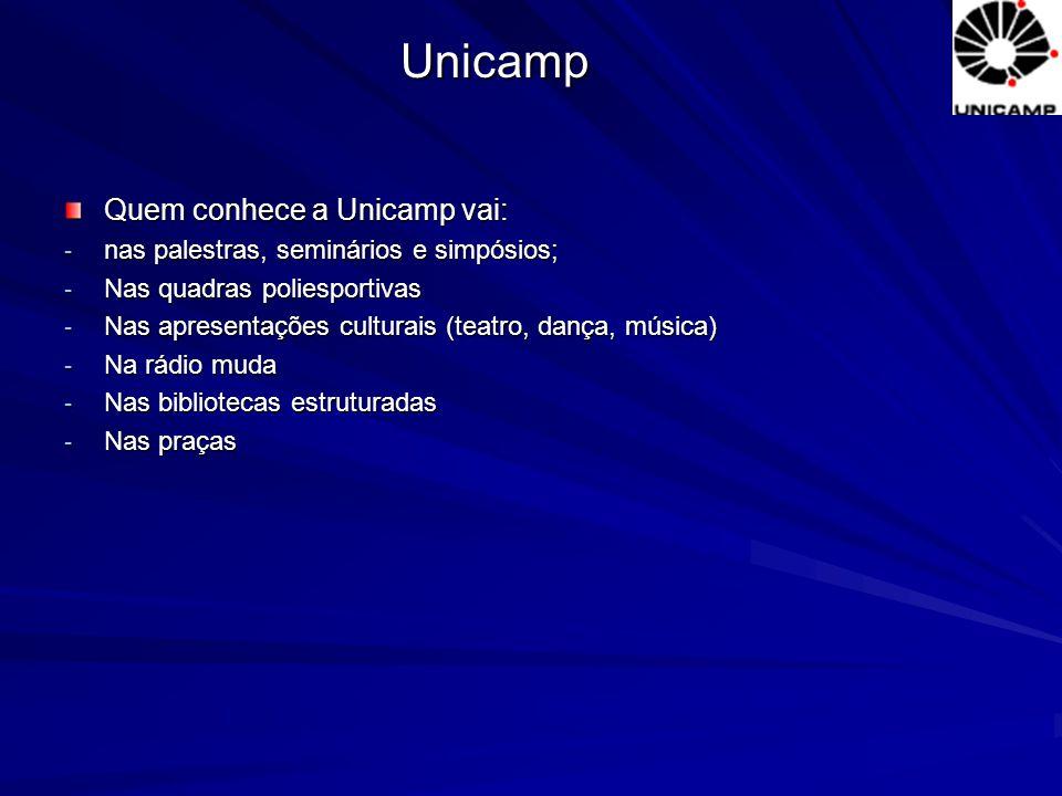 Unicamp Quem conhece a Unicamp vai: