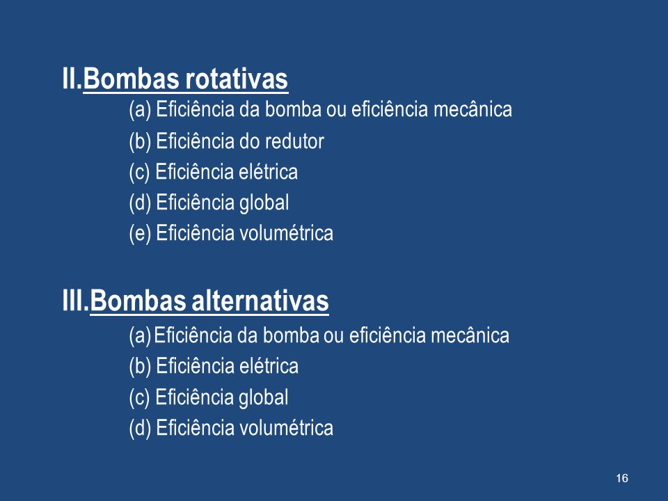 III.Bombas alternativas