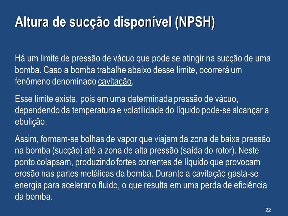 Altura de sucção disponível (NPSH)