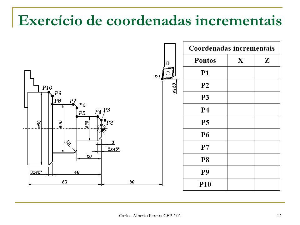 Exercício de coordenadas incrementais