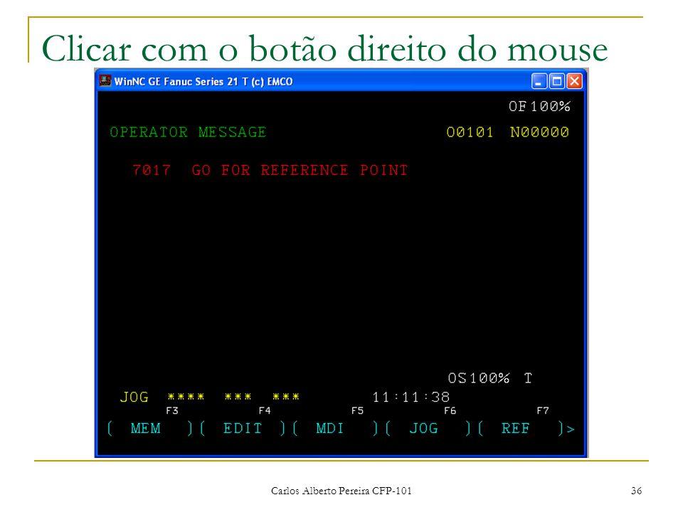 Clicar com o botão direito do mouse