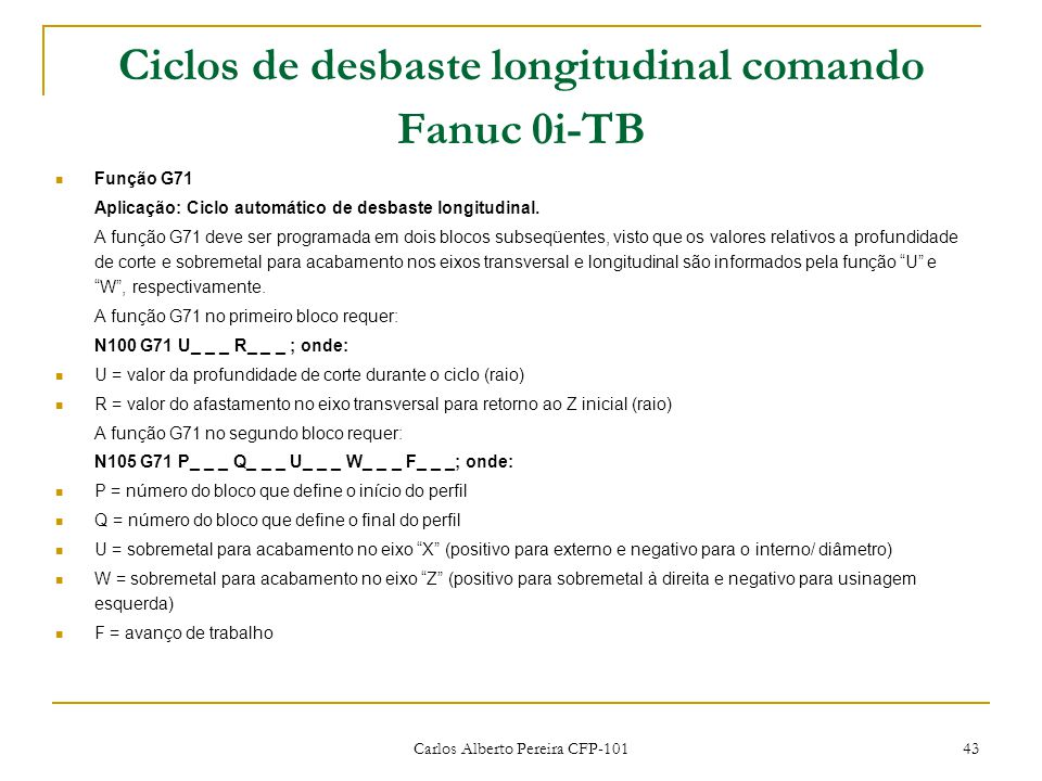 Ciclos de desbaste longitudinal comando Fanuc 0i-TB