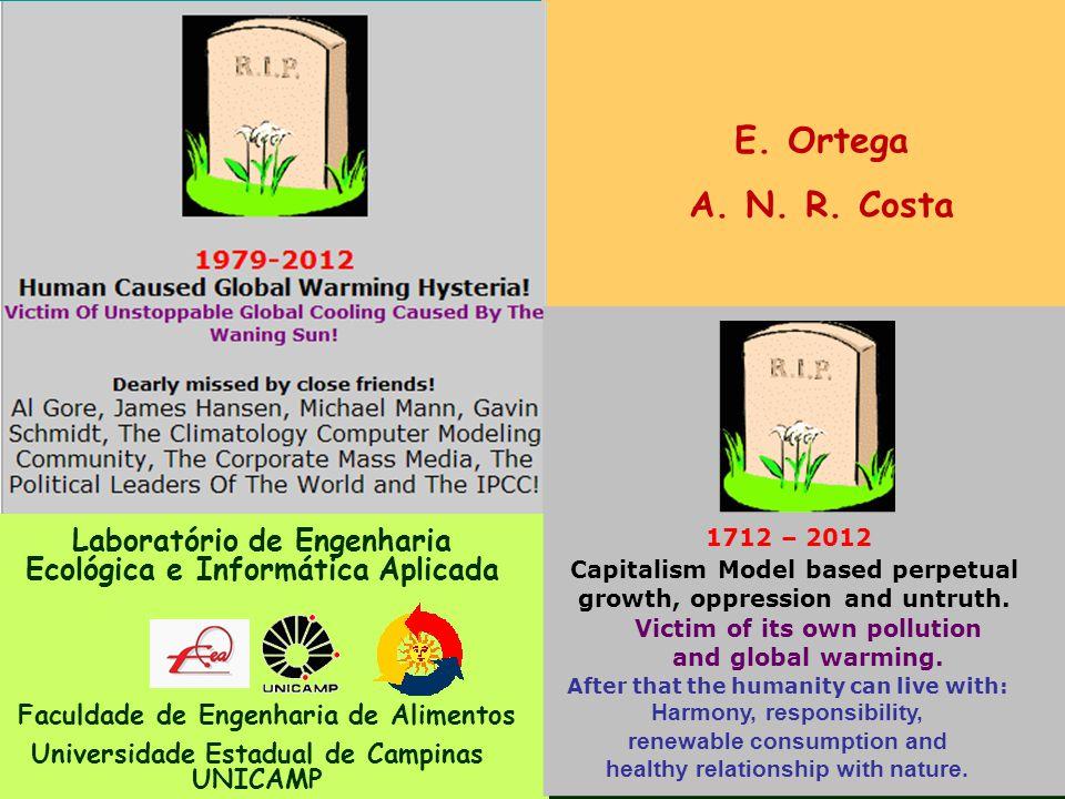 E. Ortega A. N. R. Costa. 1712 – 2012. Laboratório de Engenharia Ecológica e Informática Aplicada.