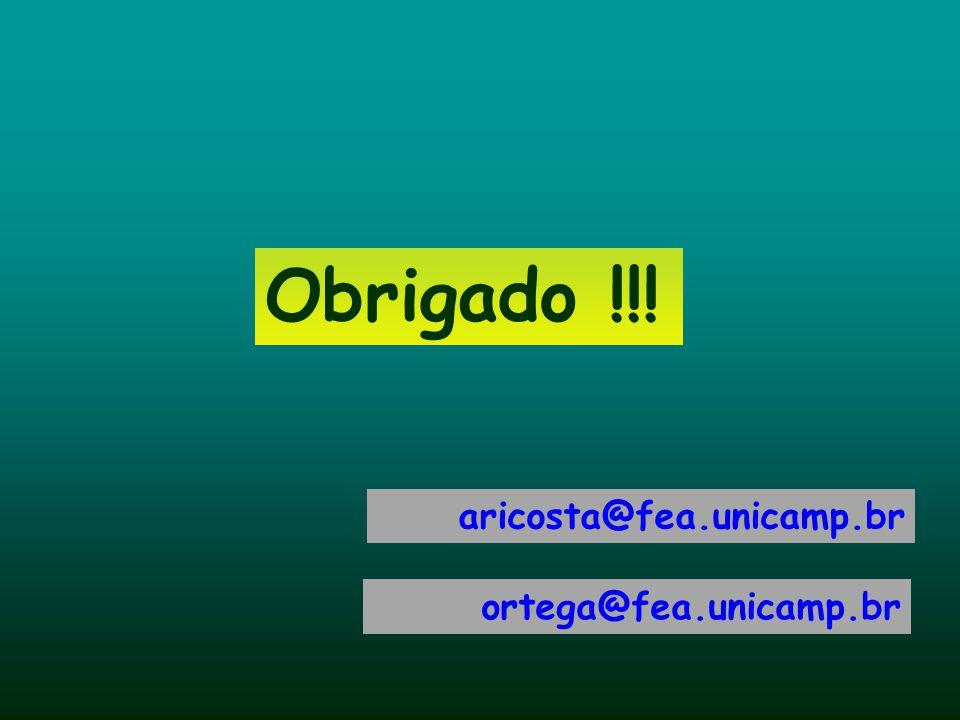 Obrigado !!! aricosta@fea.unicamp.br ortega@fea.unicamp.br 63