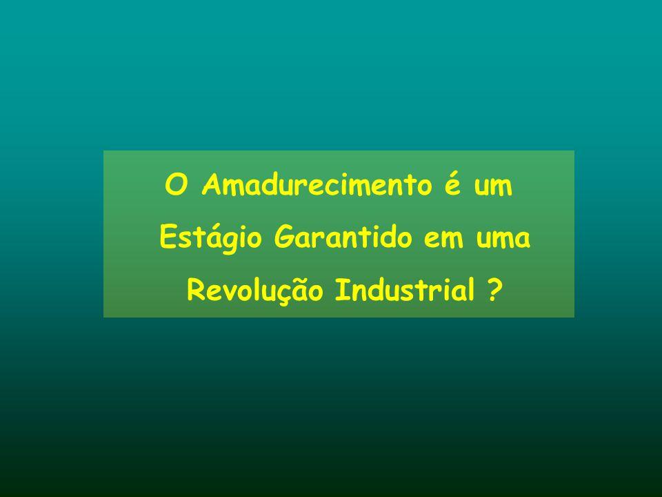 O Amadurecimento é um Estágio Garantido em uma Revolução Industrial