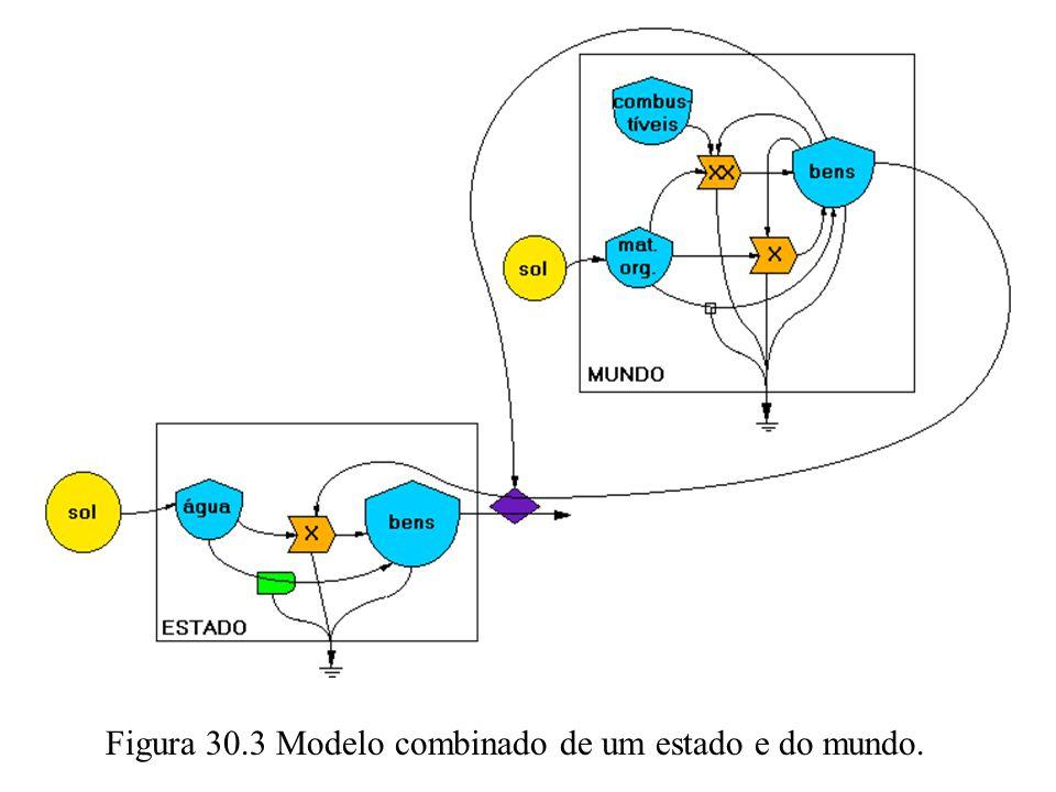 Figura 30.3 Modelo combinado de um estado e do mundo.