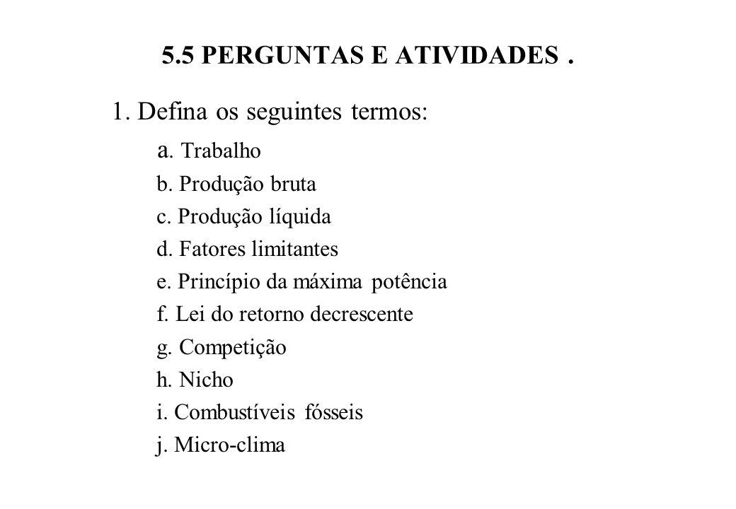 5.5 PERGUNTAS E ATIVIDADES .