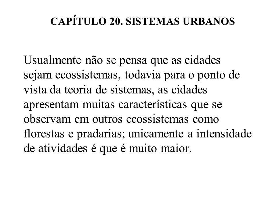 CAPÍTULO 20. SISTEMAS URBANOS