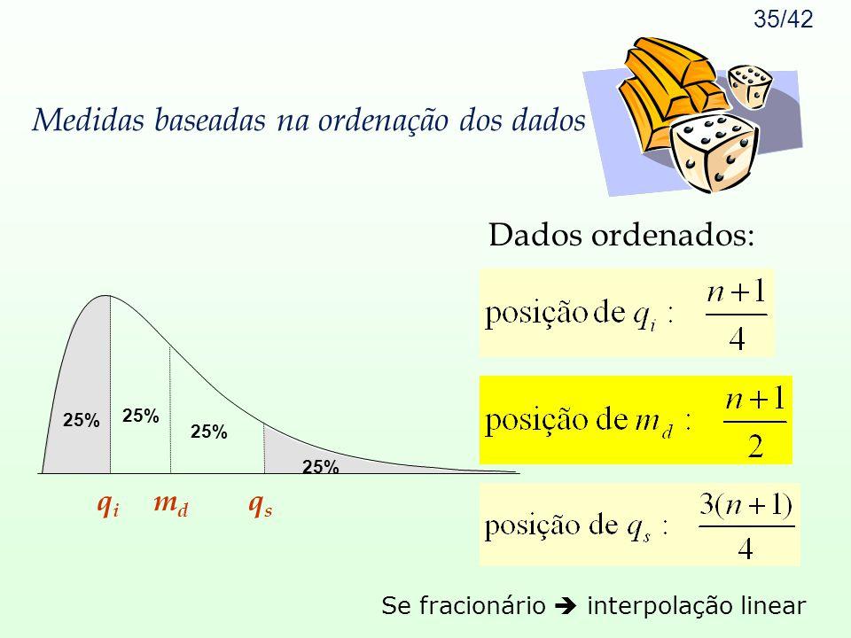 Medidas baseadas na ordenação dos dados