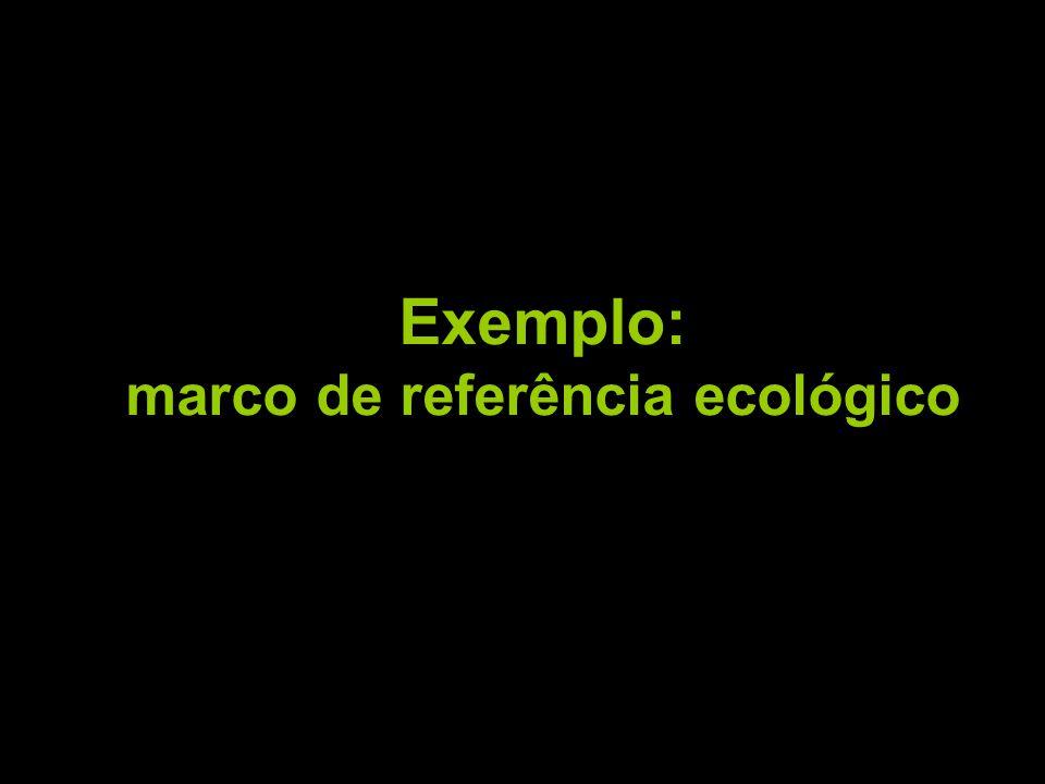 Exemplo: marco de referência ecológico