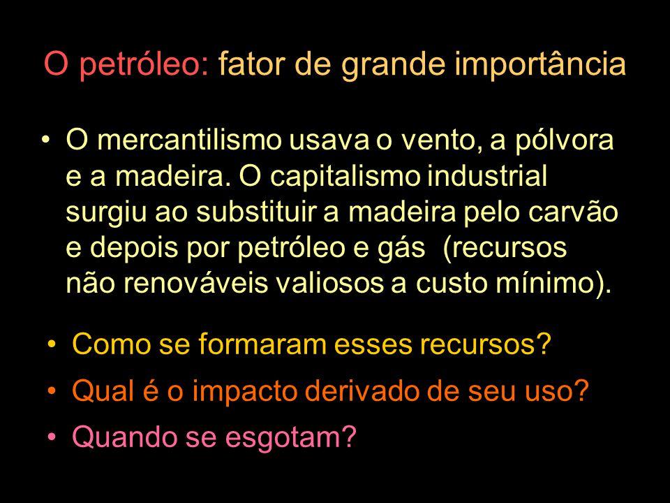 O petróleo: fator de grande importância