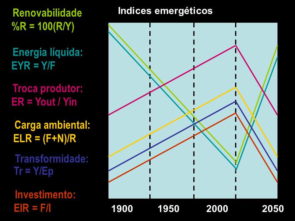 Renovabilidade %R = 100(R/Y)