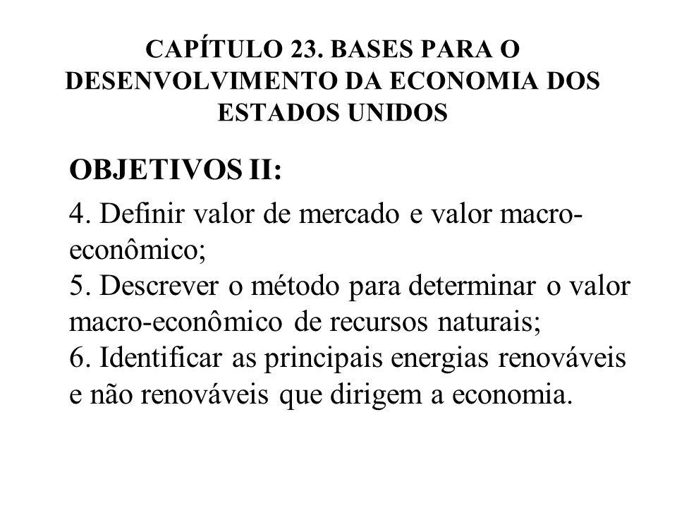 CAPÍTULO 23. BASES PARA O DESENVOLVIMENTO DA ECONOMIA DOS ESTADOS UNIDOS
