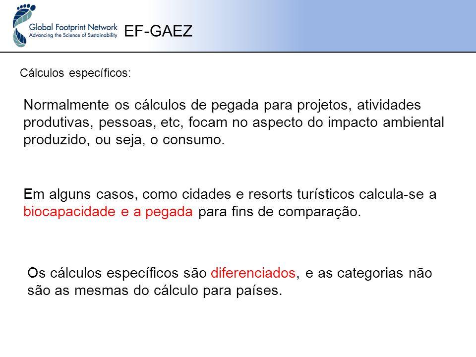 EF-GAEZ Cálculos específicos: