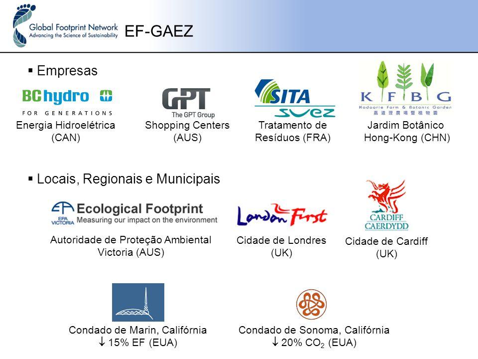 EF-GAEZ Empresas Locais, Regionais e Municipais Energia Hidroelétrica