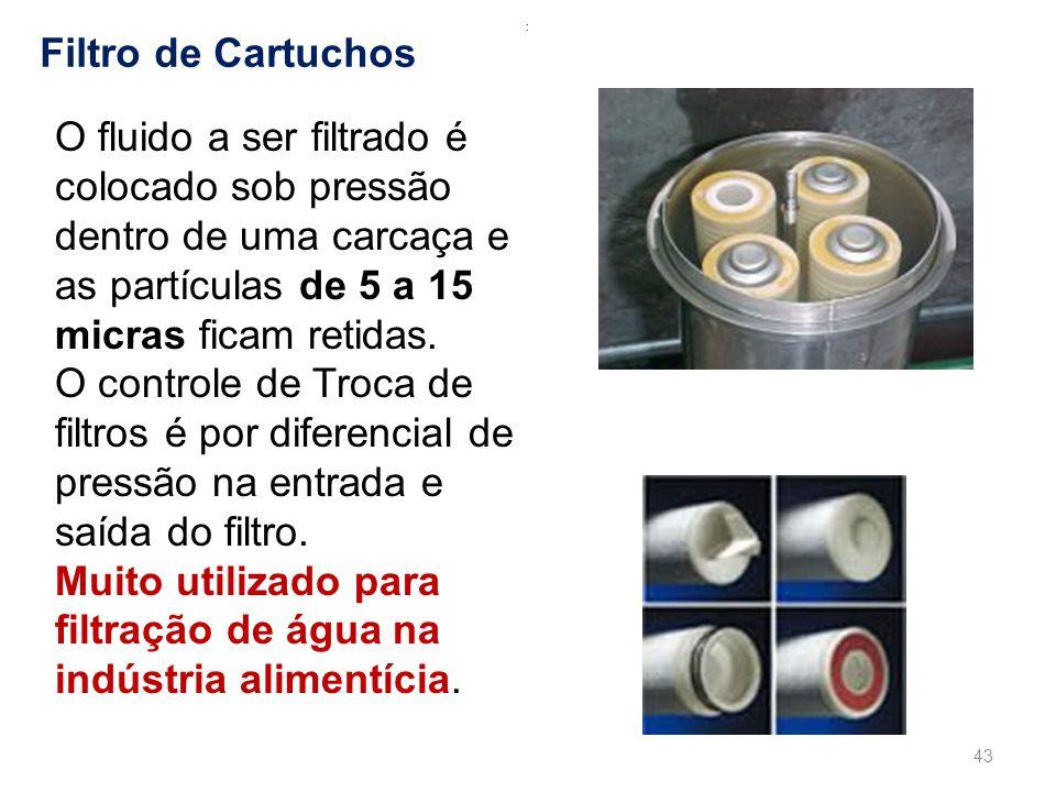 Muito utilizado para filtração de água na indústria alimentícia.