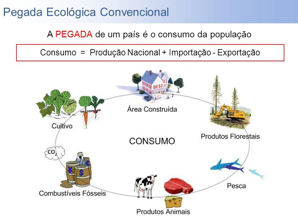 Consumo = Produção Nacional + Importação - Exportação