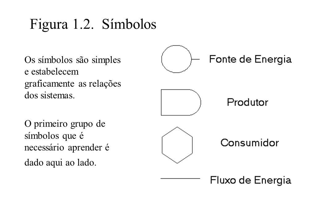 Figura 1.2. Símbolos Os símbolos são simples e estabelecem graficamente as relações dos sistemas.