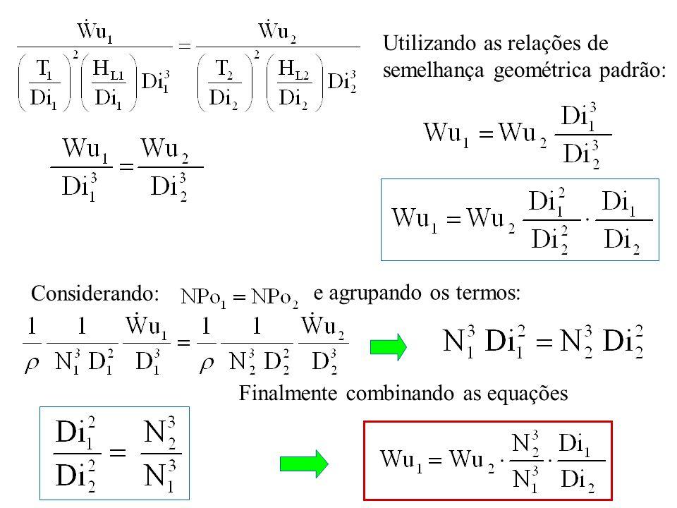 Utilizando as relações de semelhança geométrica padrão: