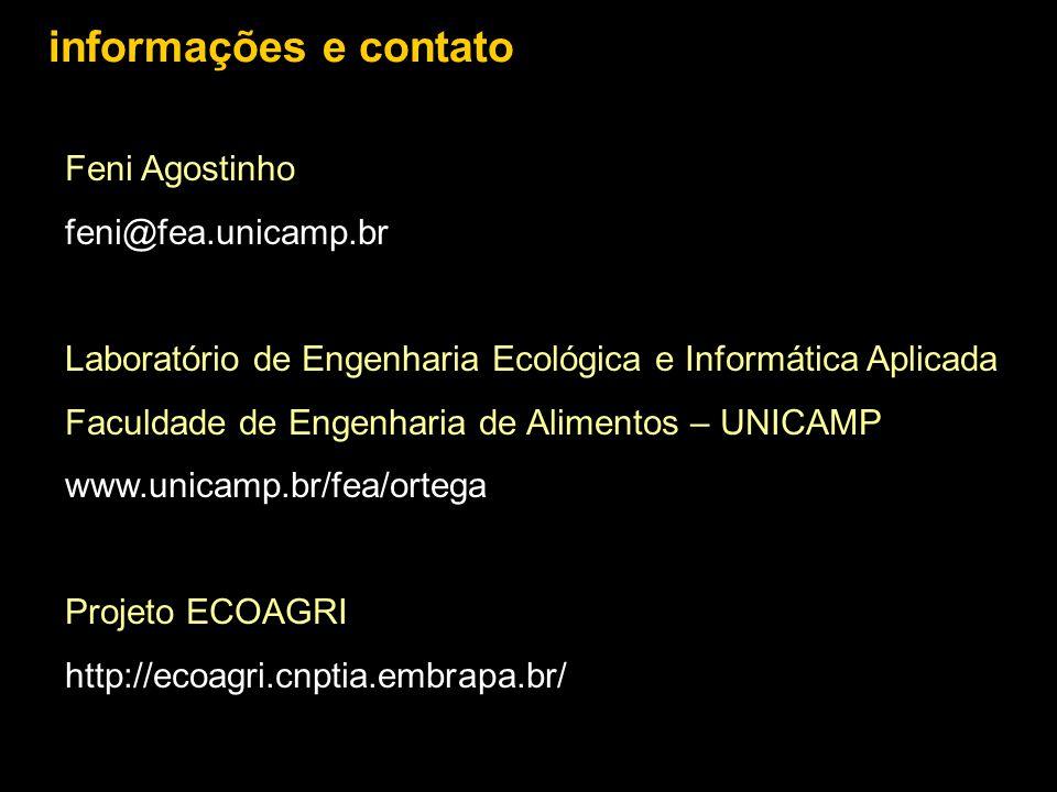 informações e contato Feni Agostinho feni@fea.unicamp.br