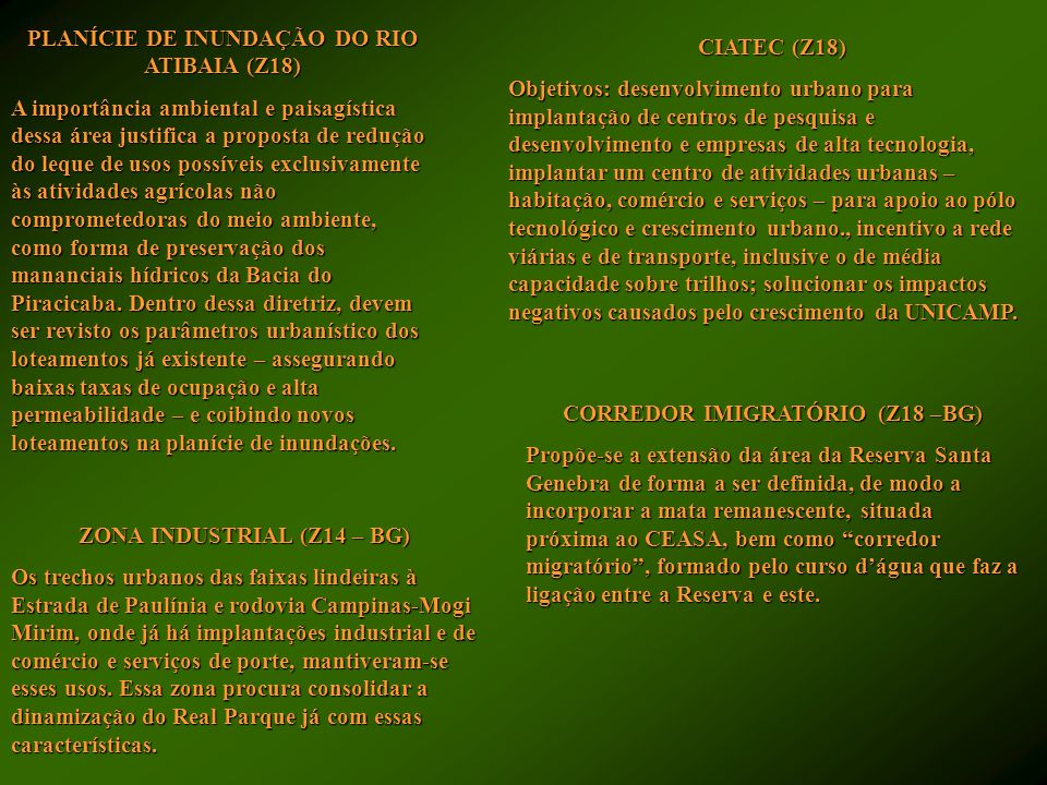 PLANÍCIE DE INUNDAÇÃO DO RIO ATIBAIA (Z18)
