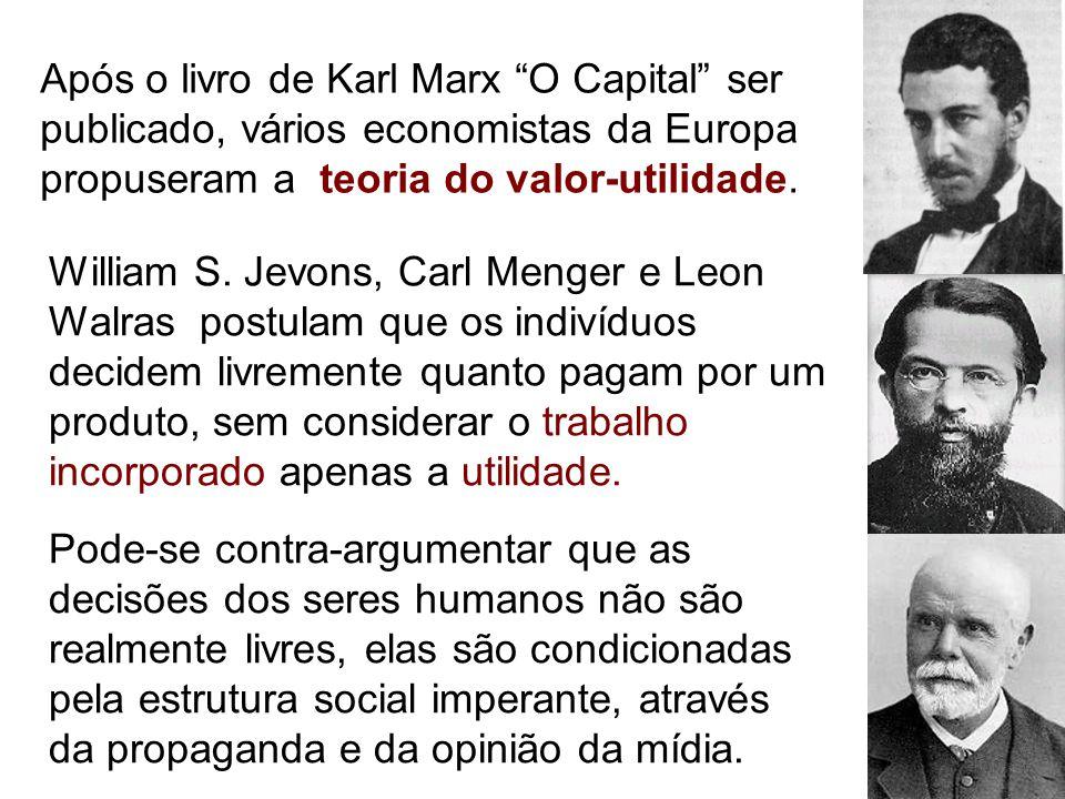 Após o livro de Karl Marx O Capital ser publicado, vários economistas da Europa propuseram a teoria do valor-utilidade.