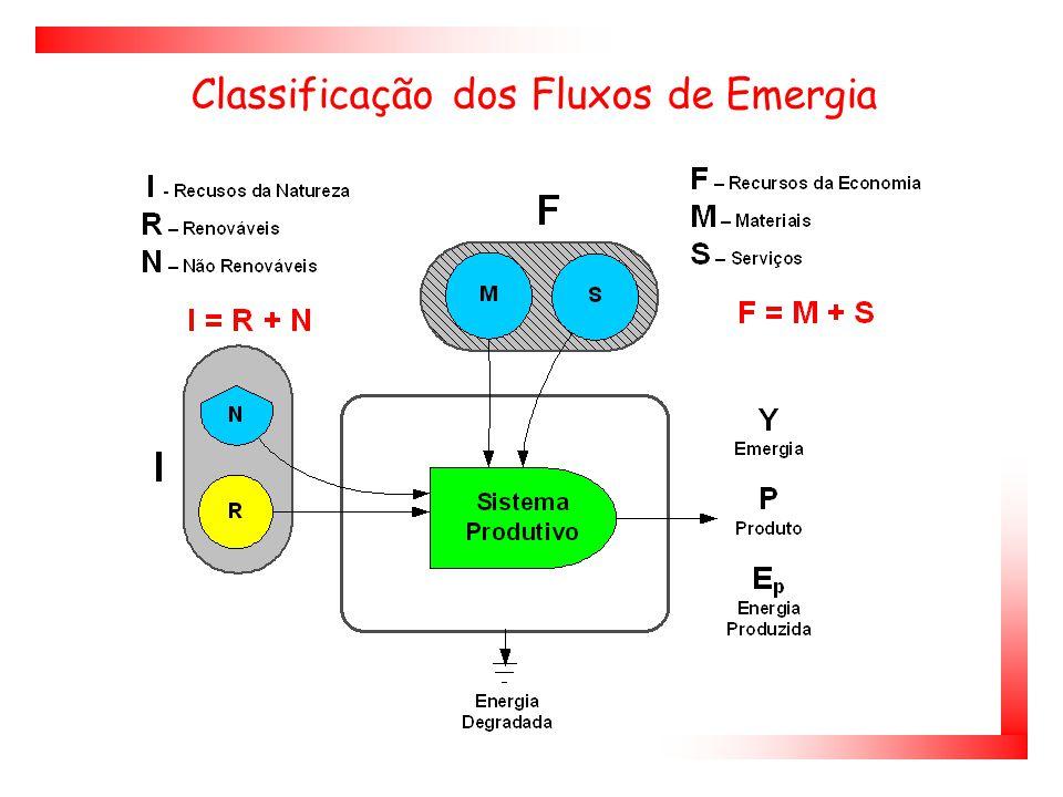 Classificação dos Fluxos de Emergia