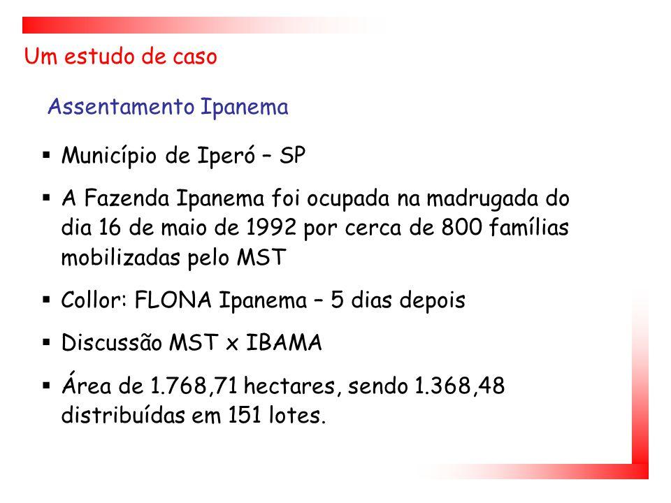 Um estudo de caso Assentamento Ipanema. Município de Iperó – SP.