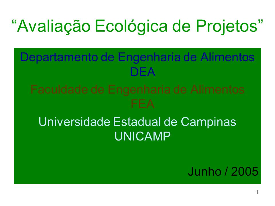 Avaliação Ecológica de Projetos