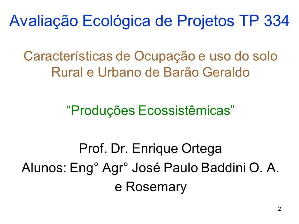 Avaliação Ecológica de Projetos TP 334