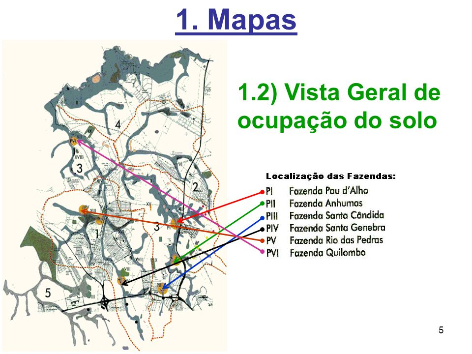 1. Mapas 1.2) Vista Geral de ocupação do solo