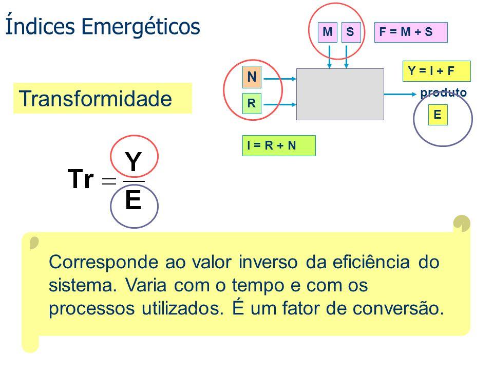 Índices Emergéticos Transformidade