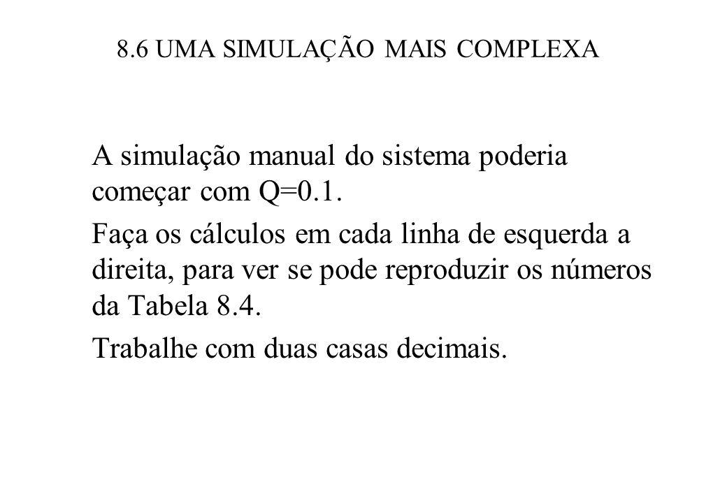 8.6 UMA SIMULAÇÃO MAIS COMPLEXA