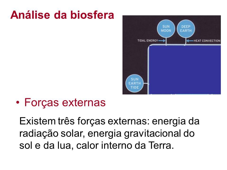 Análise da biosfera Forças externas