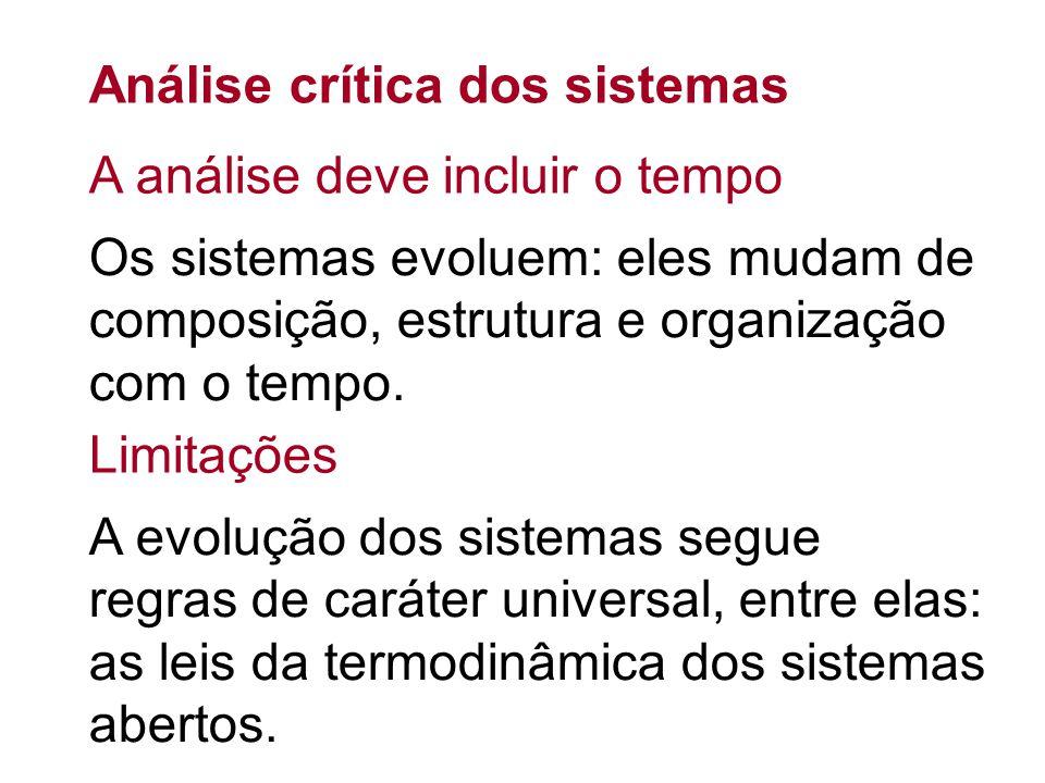 Análise crítica dos sistemas