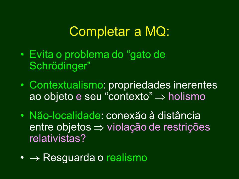 Completar a MQ: Evita o problema do gato de Schrödinger
