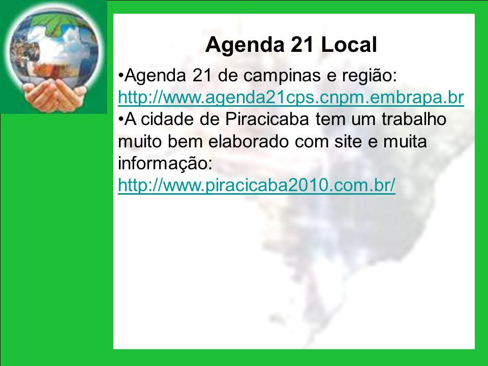 Agenda 21 Local Agenda 21 de campinas e região: http://www.agenda21cps.cnpm.embrapa.br.
