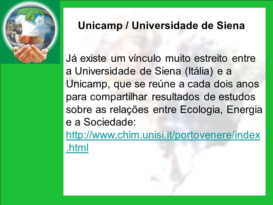 Unicamp / Universidade de Siena