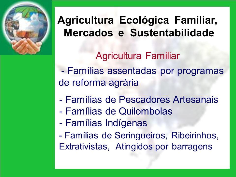 Agricultura Ecológica Familiar, Mercados e Sustentabilidade