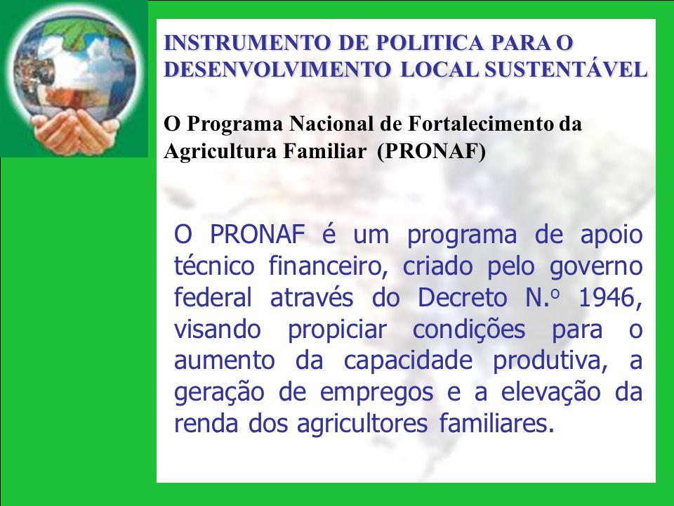 INSTRUMENTO DE POLITICA PARA O DESENVOLVIMENTO LOCAL SUSTENTÁVEL