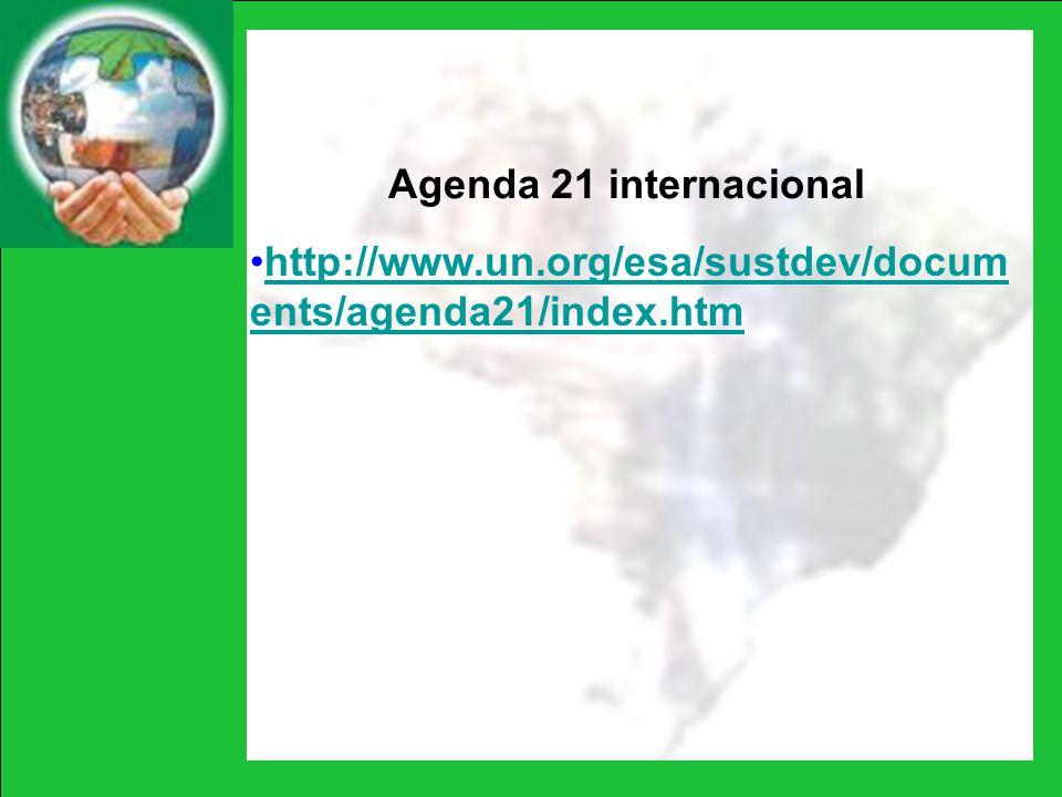 Agenda 21 internacional http://www.un.org/esa/sustdev/documents/agenda21/index.htm