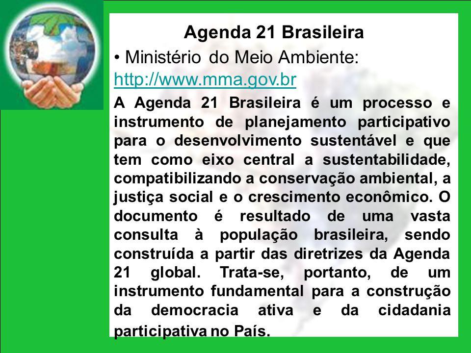 Ministério do Meio Ambiente: http://www.mma.gov.br